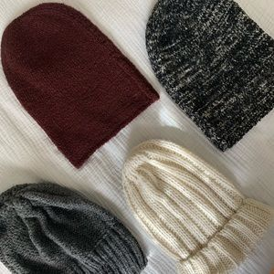 Lot of 4 knit beanies